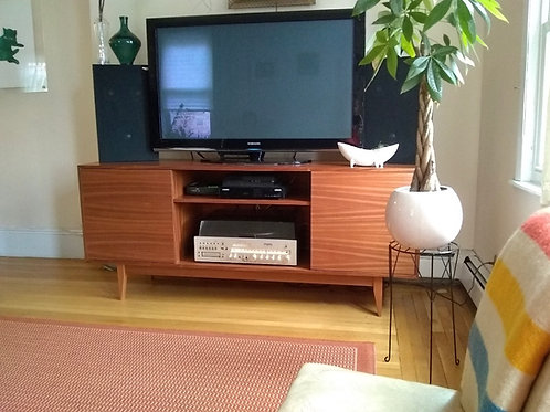 Mahogany TV Stand - Straight Leg