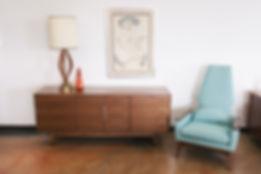 Walnut Mid Century Style Buffet / Credenza