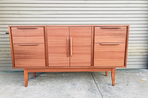 4 Drawer Mid Century Style Buffet in Mahogany