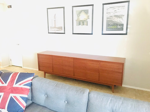 8' Media Console in Mahogany