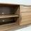 "Thumbnail: (W26) Walnut 96"" Hand Built Mid Century Style TV Cabinet -  Free Shipping"