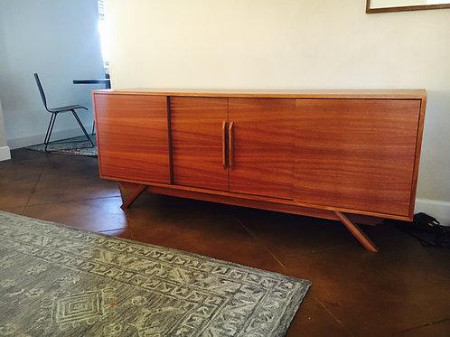 (Mah21) Mid Century Style Mahogany 4 Door - Angled Leg - Free Shipping!