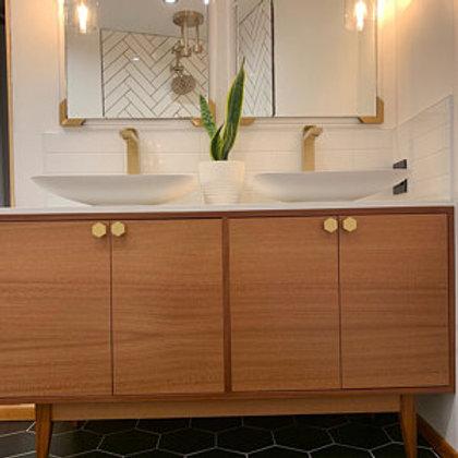 Mahogany Double Door- Straight Leg Vanity Cabinet!
