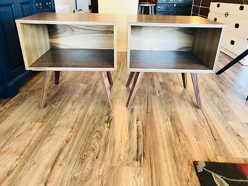 Pair of Walnut Night Stand / Side Table - Free Shipping!
