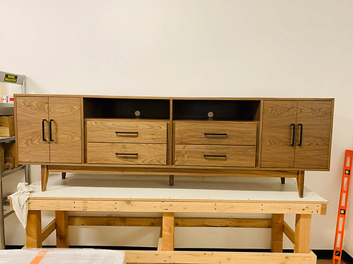 Mid Century Style 8' Media Console in Walnut - Free Shipping!