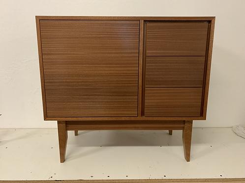 "(Mah18) 36"" Mid Century Style 3 Drawer / Single Door Cabinet - Free Shipping!"