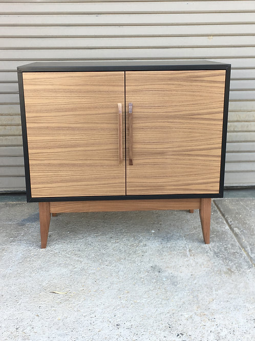 (W57) Mid Century Walnut Entry Cabinet - Free Shipping!