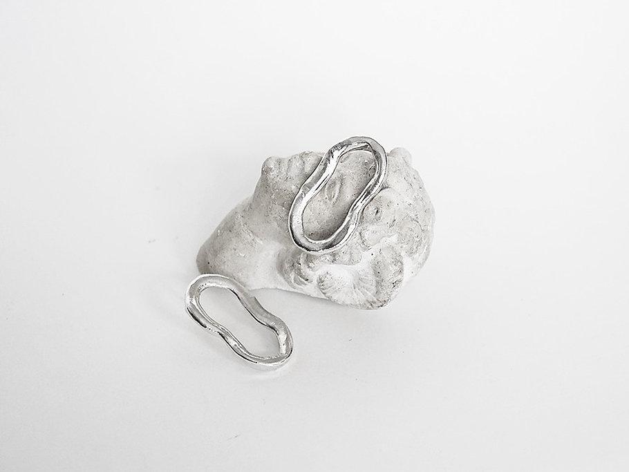 silver earrings greek head