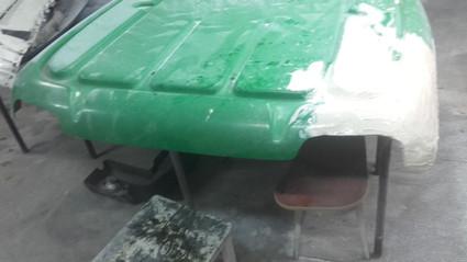 spawanie dachu samochodu