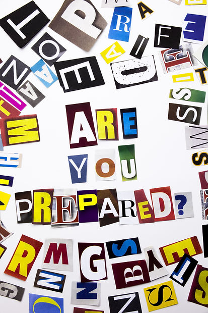 Are you prpared?
