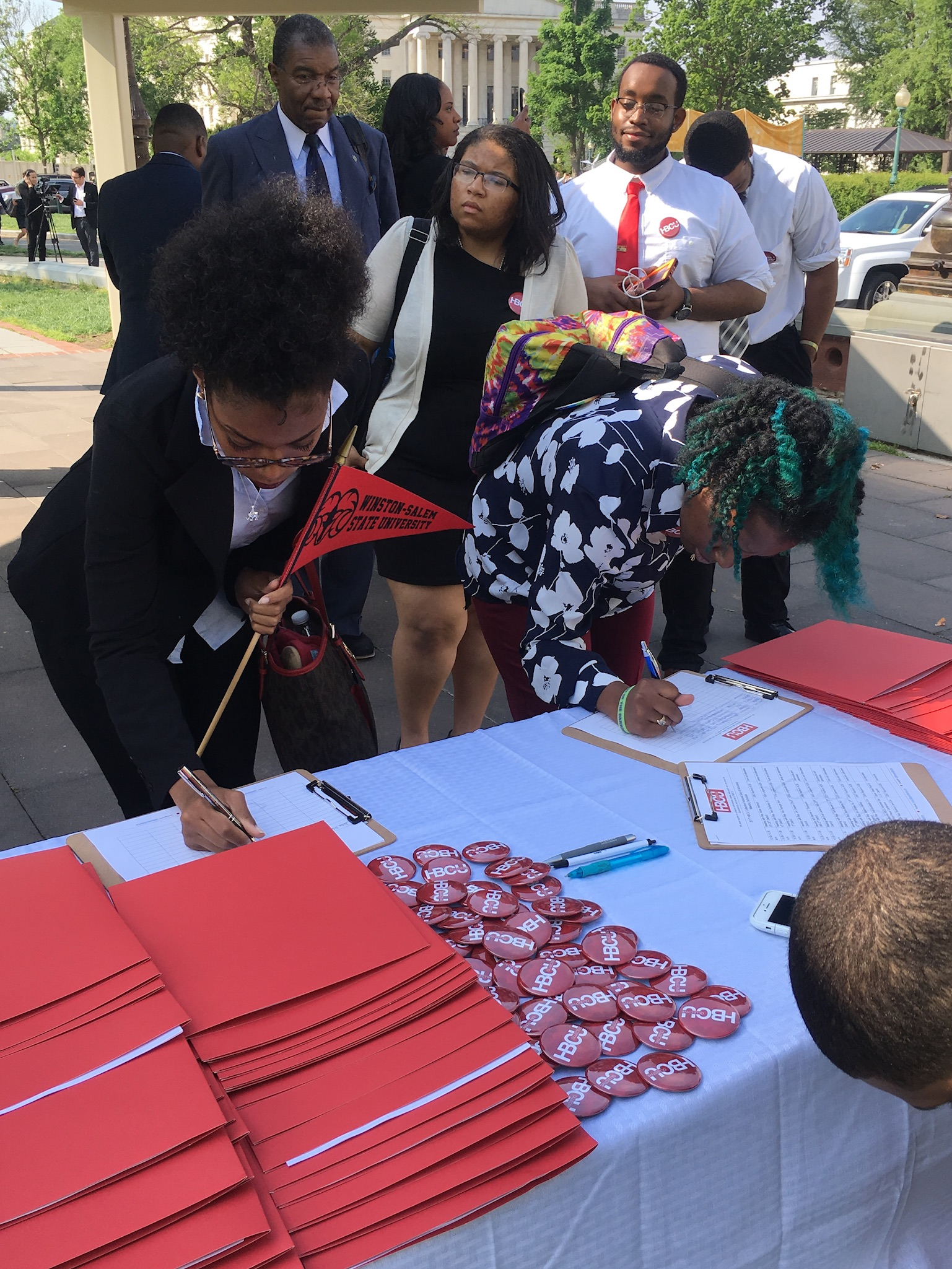 Students from WSSU registering at HBCU Collective Registration