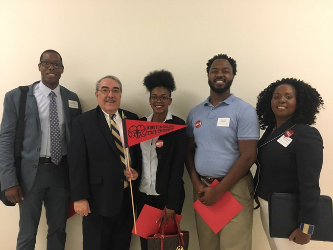 Students from WSSU Meeting with Congressman G.K. Butterfield