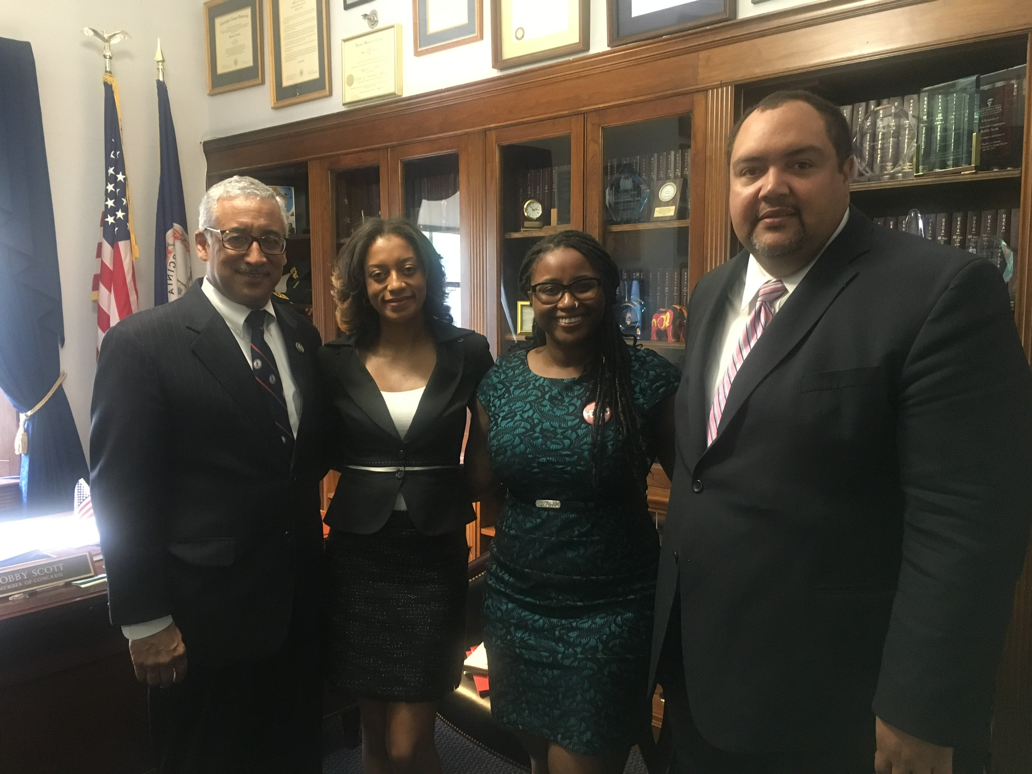 HBCU Collective meeting with Congressman Bobby Scott and Chief of Staff