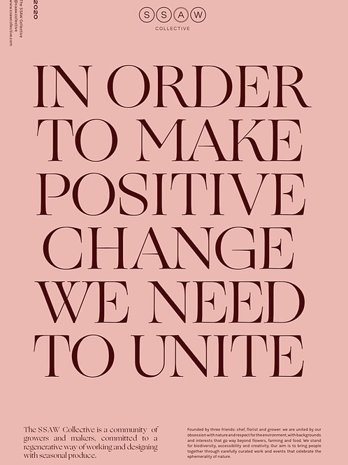 WE NEED TO UNITE 2020 POSTER
