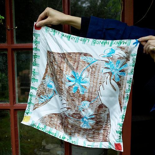 DARN x SSAW Spring silk scarf