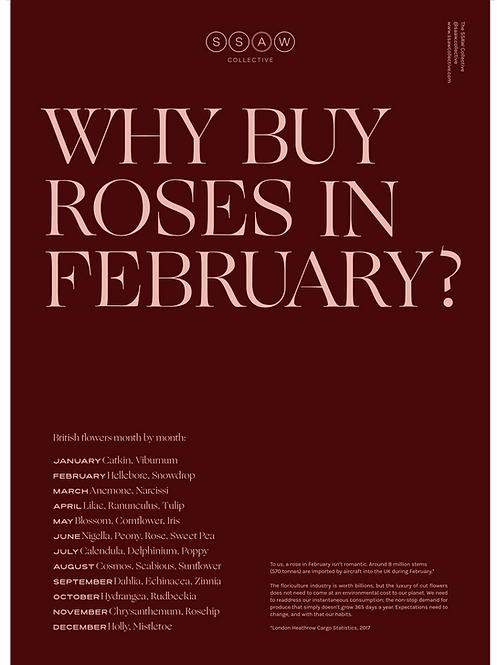 WHY BUY ROSES 2020 POSTER