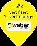 Logo Sertifisert Weber Gulventreprenør 2