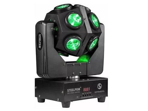 2 Roboticas Movil Retro Ball Steel Pro Esfera De Led Rgbw