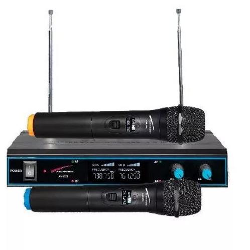 2 MICROFONOS UHF INALAMBRICOS