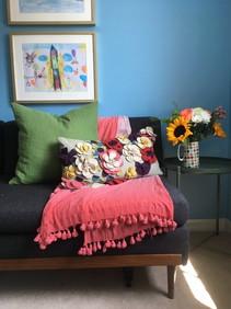 Bold colourful interior