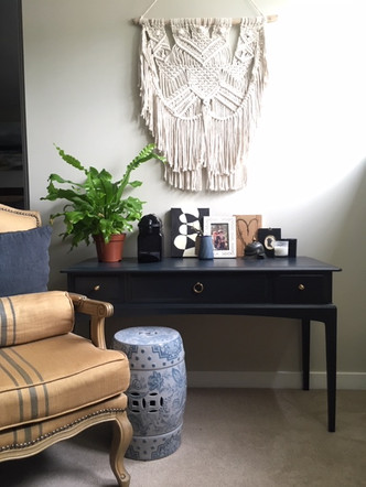 Master bedroom coffee station