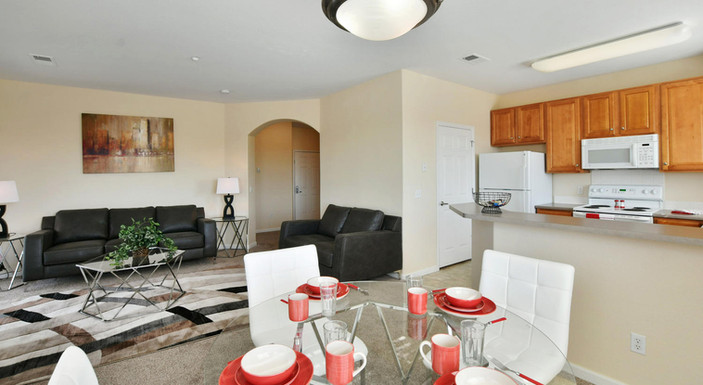 Two bedroom dining and living room