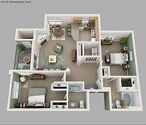 2 bedroom - layout