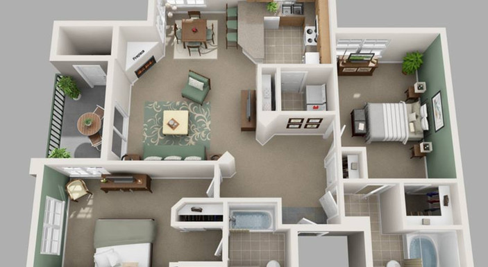 Two Bedroom Layout