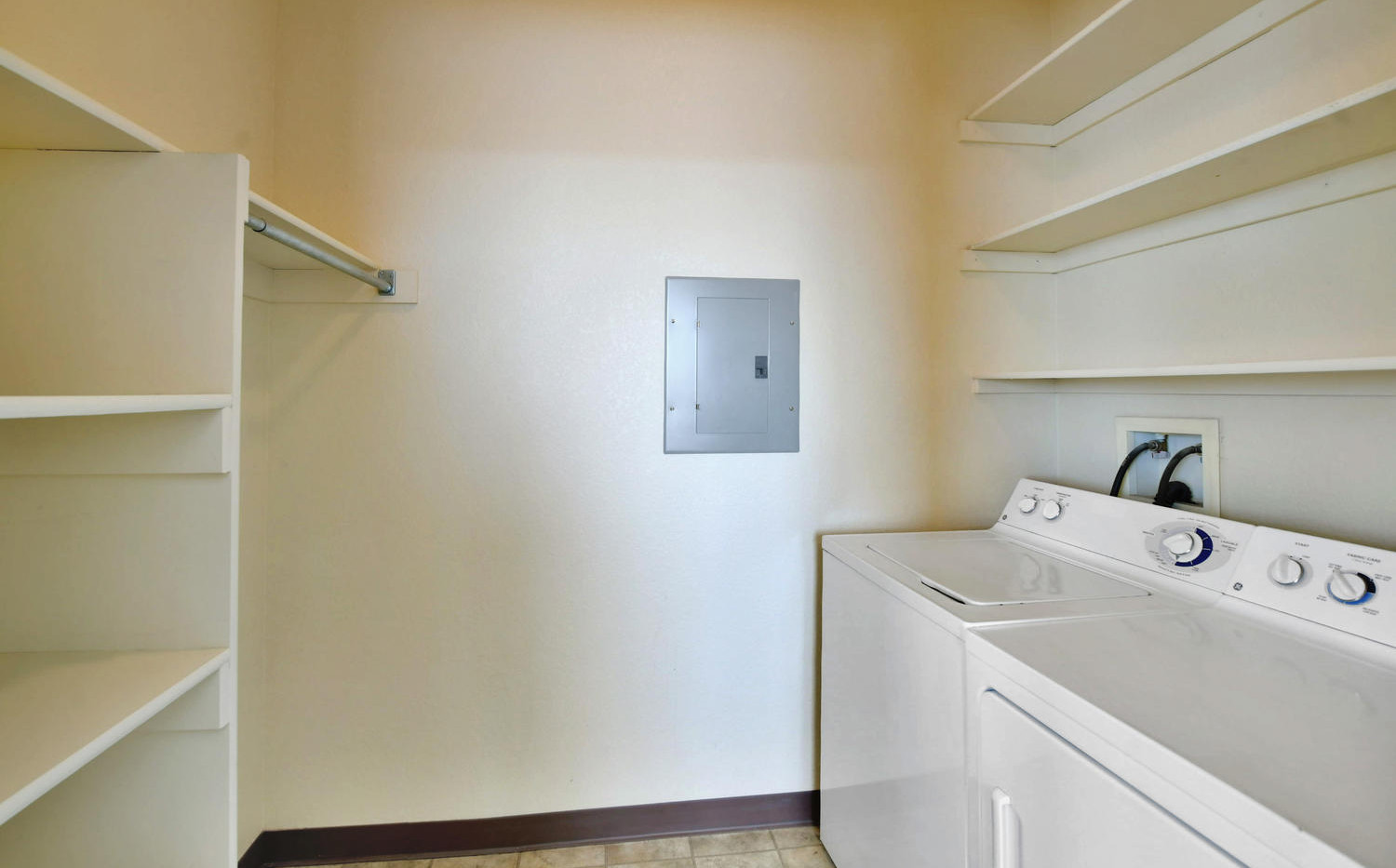 Two bedroom laundry room