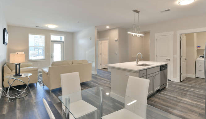 One bedroom dining and living