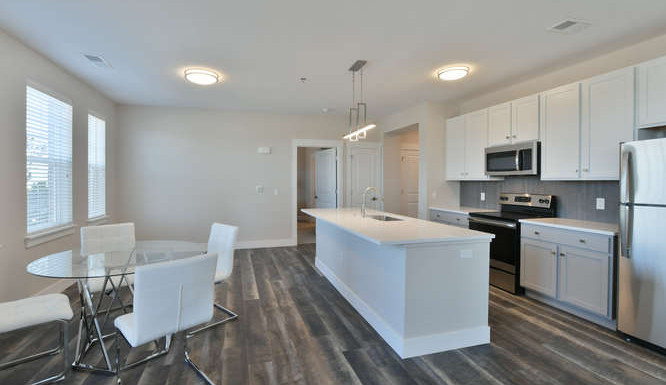 Two bedroom kitchen and dining room