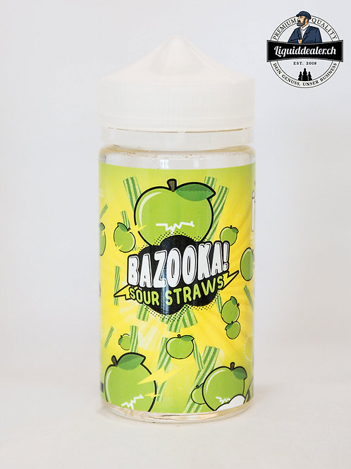 Green Apple by Bazooka Sour Straws