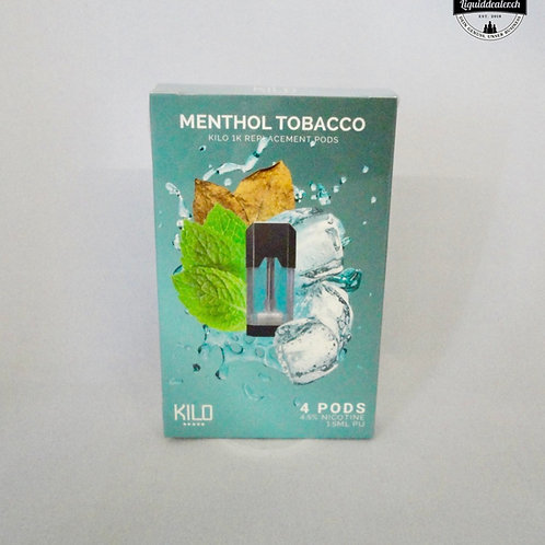 MENTHOL TOBACCO REPLACEMENT PODS FOR 1K ULTRA BY KILO