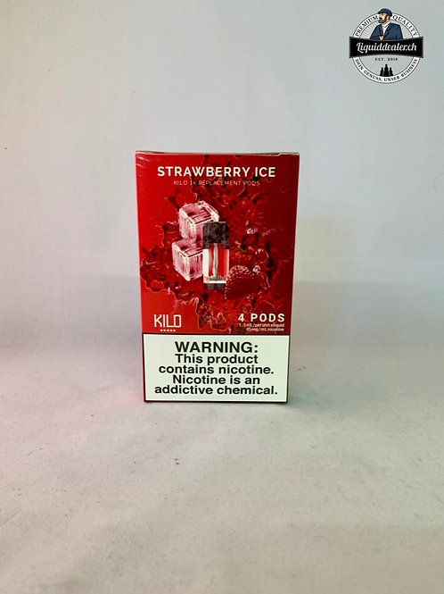 Strawberry ICE REPLACEMENT PODS FOR 1K ULTRA BY KILO