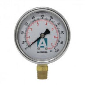 "Manómetro con glicerina 2.5"" marca ALTAMIRA"
