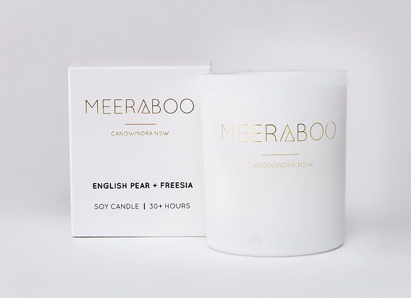 Meeraboo Soy Candle - English Pear + Freesia