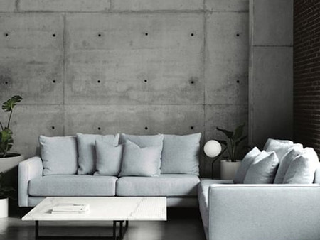 Molmic - 'The Parker Modular' looking perfect against the concrete wall in the Sydney Showroom.