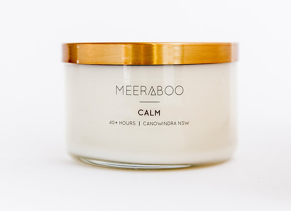 Meeraboo Soy Candle - Gold Lid - Calm