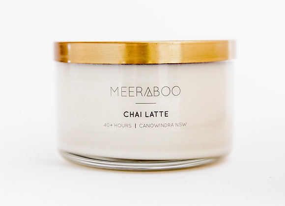 Meeraboo Soy Candle - Gold Lid - Chai Latte