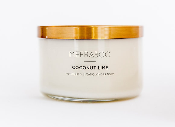 Meeraboo Soy Candle - Gold Lid - Coconut Lime