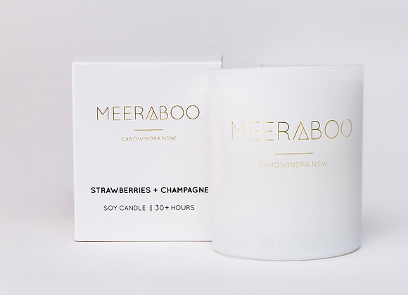 Meeraboo Soy Candle - Strawberries + Champagne