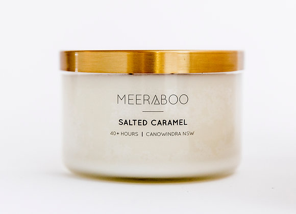 Meeraboo Soy Candle - Gold Lid - Salted Caramel