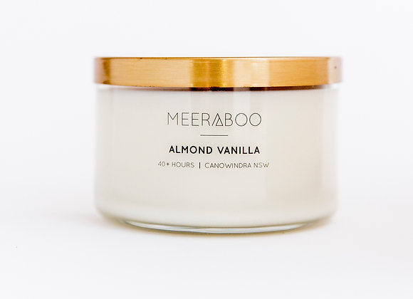Meeraboo Soy Candle - Gold Lid - Almond Vanilla
