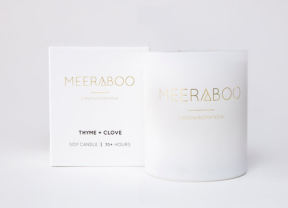 Meeraboo Soy Candle - Thyme + Clove