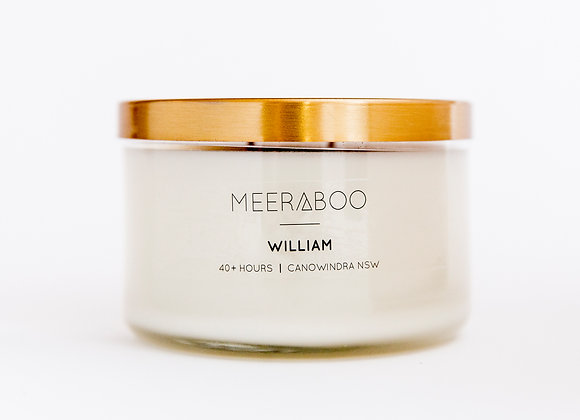 Meeraboo Soy Candle - Gold Lid - William