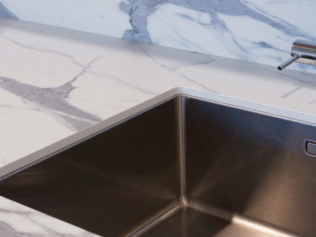 Polytec Xenolith benchtop supplied by K & H Interiors.