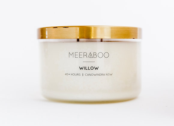 Meeraboo Soy Candle - Gold Lid - Willow