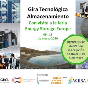 Gira Tecnológica Almacenamiento, con visita a Feria Energy Storage Europe.   9-13 de marzo de 2020