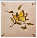 BUTTERFLY PAINTED ON TILES
