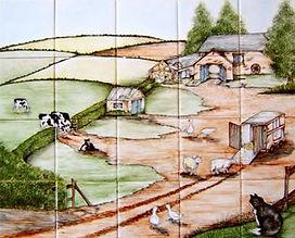 FARM SCENE BY E J TILE DESIGN